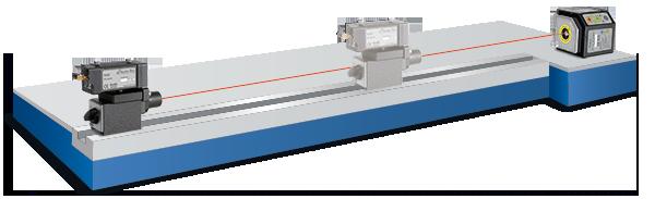 Geradheitsmessung mit Lasertechnik