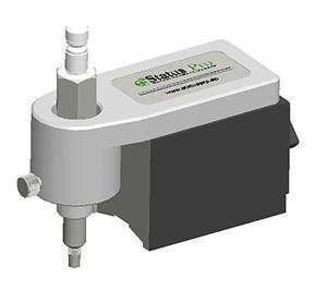 Magnet mit Tastspitze zur Erfassung von diskreten Punkten mit Aufnahme für R310 Laser Empfänger